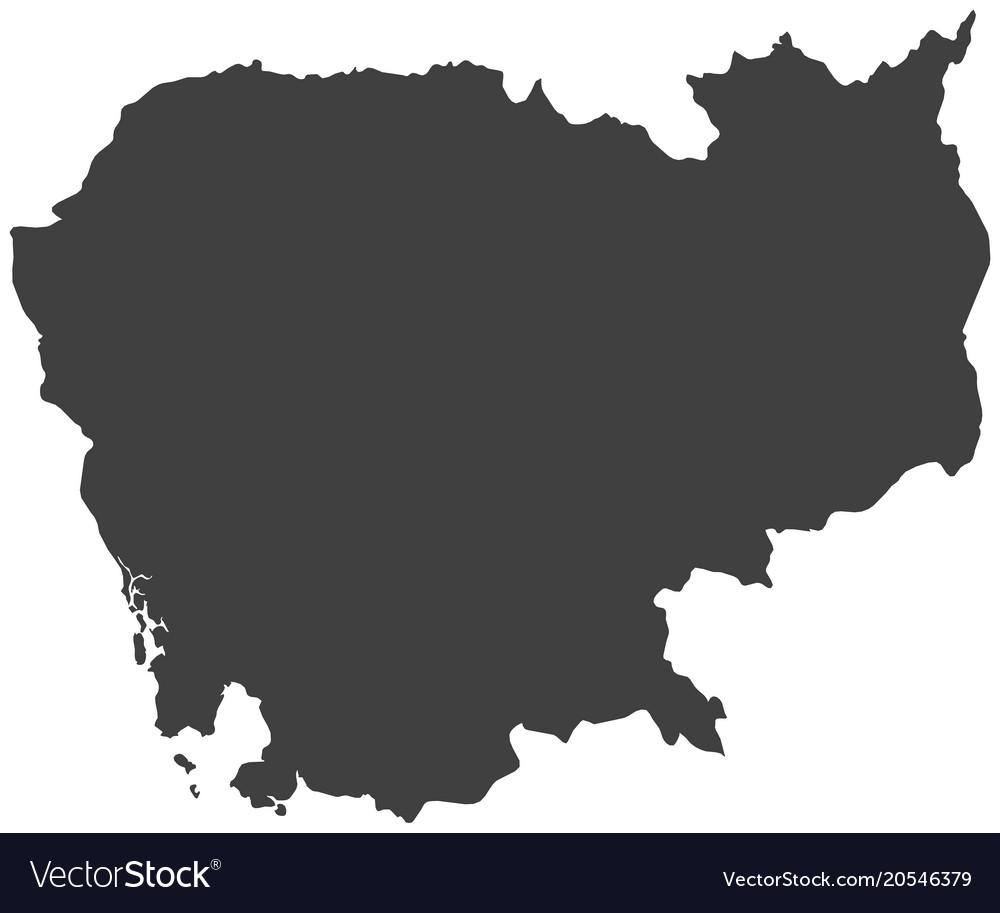 Map Of Cambodia Royalty Free Vector Image Vectorstock
