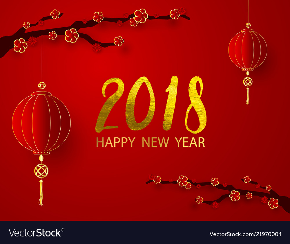 Abstract chinese new year graphic and background