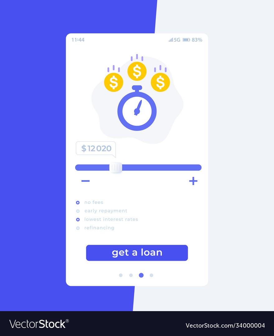 Fast loan app mobile ui design