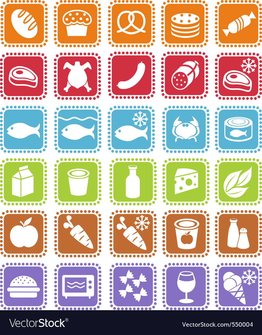 Grocery icons