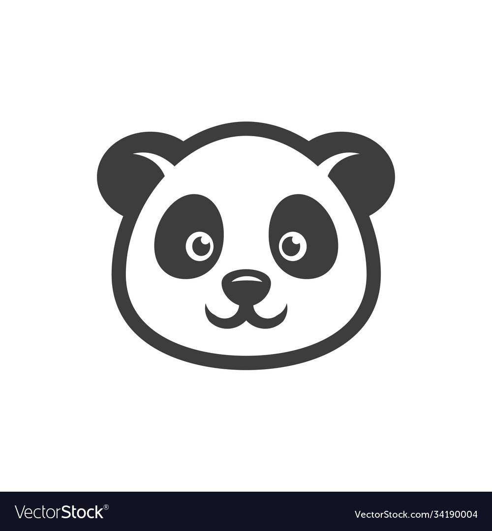 Panda head cartoon icon images