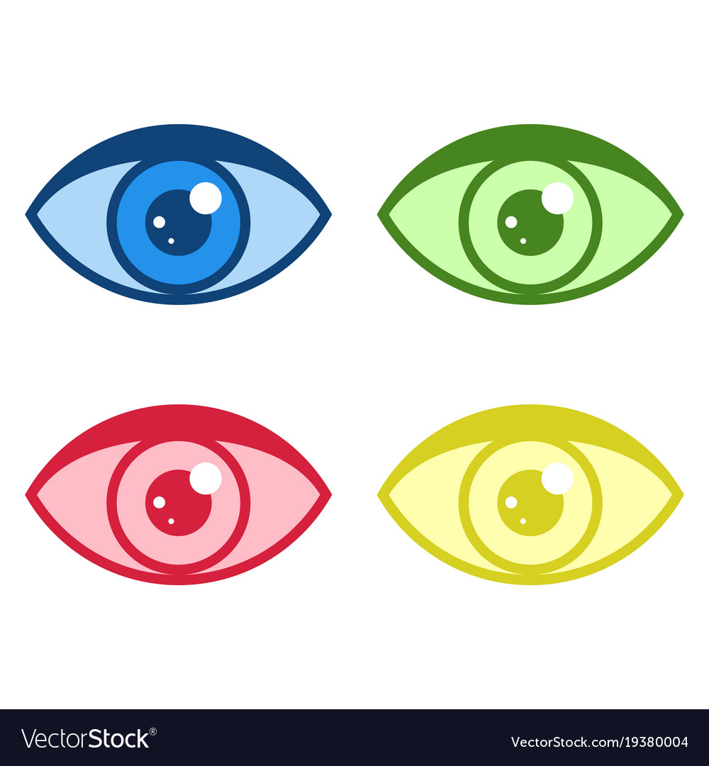 Simple eye icons set