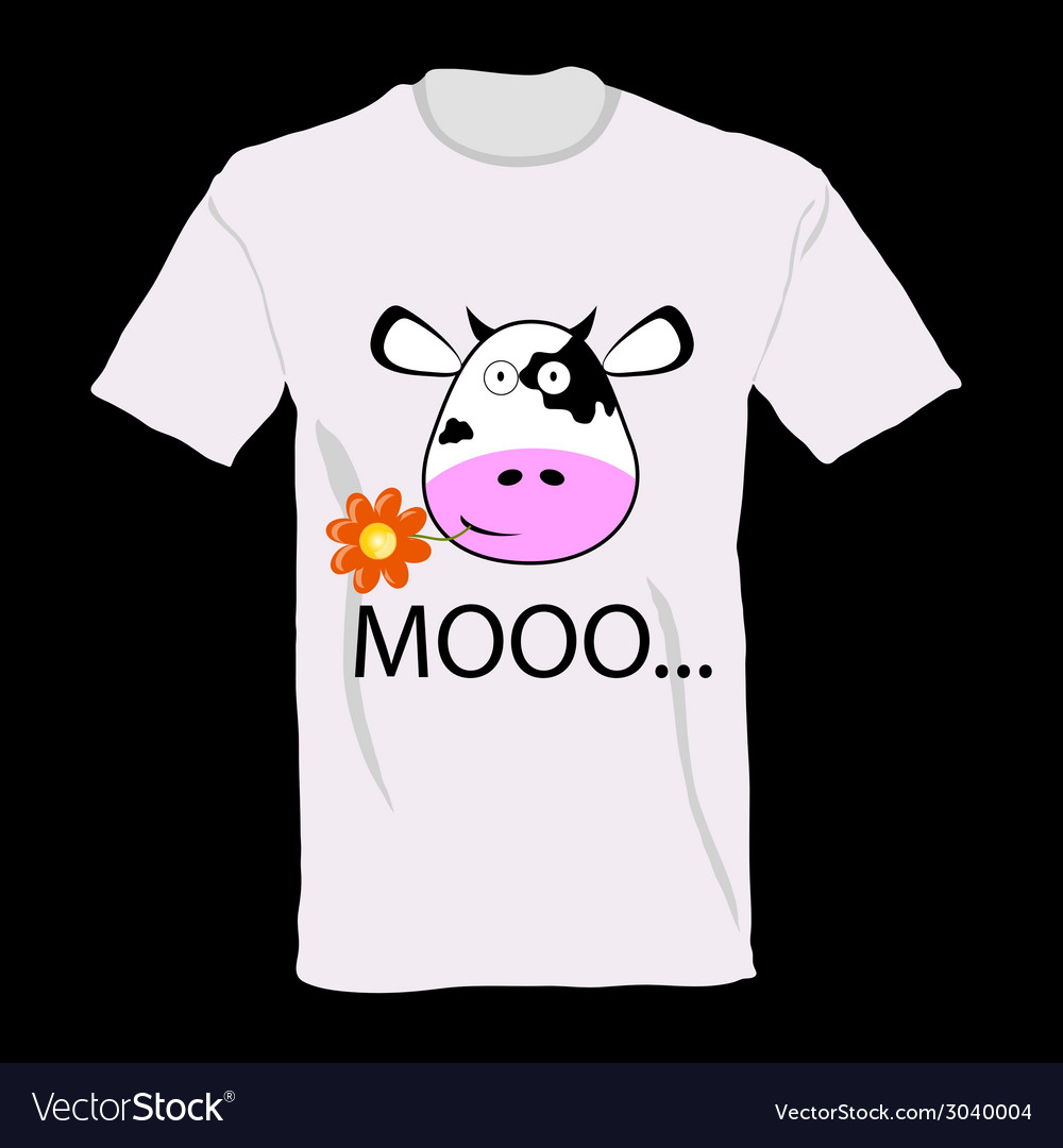 T-shirt with a cow on it art