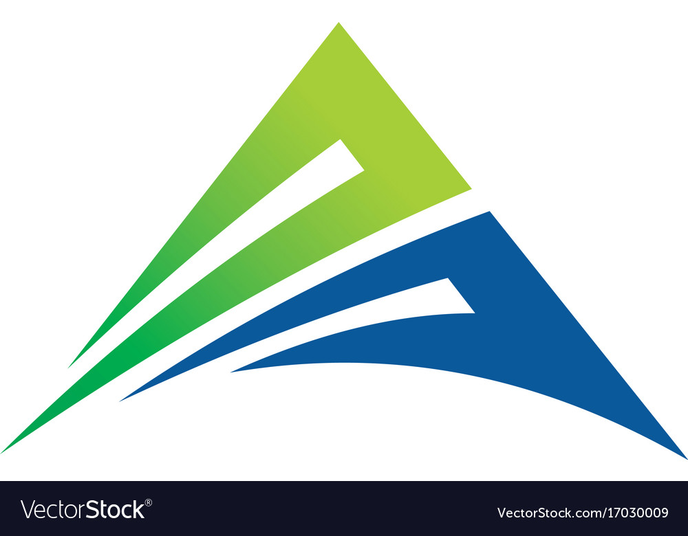 Business finance abstract triangle logo