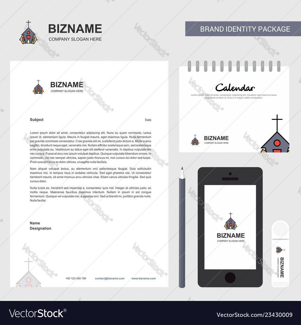 Church Calendar Design.Church Business Letterhead Calendar 2019 And