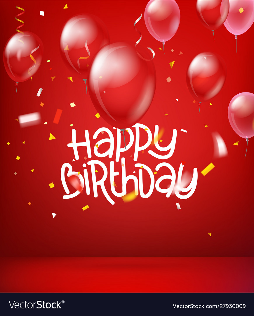 Happy Birthday Wishes Card Royalty Free Vector Image
