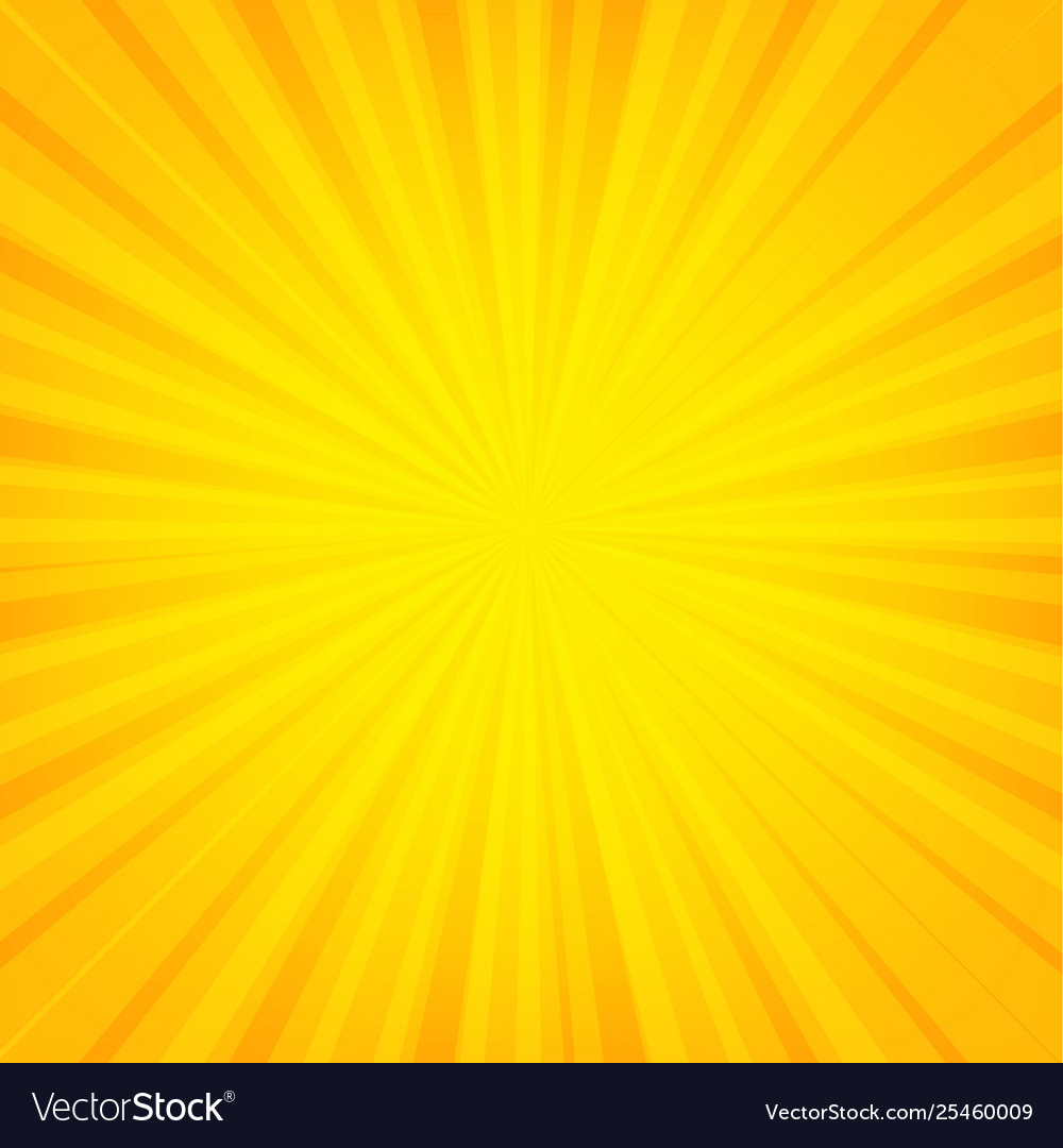 Orange sunburst banner