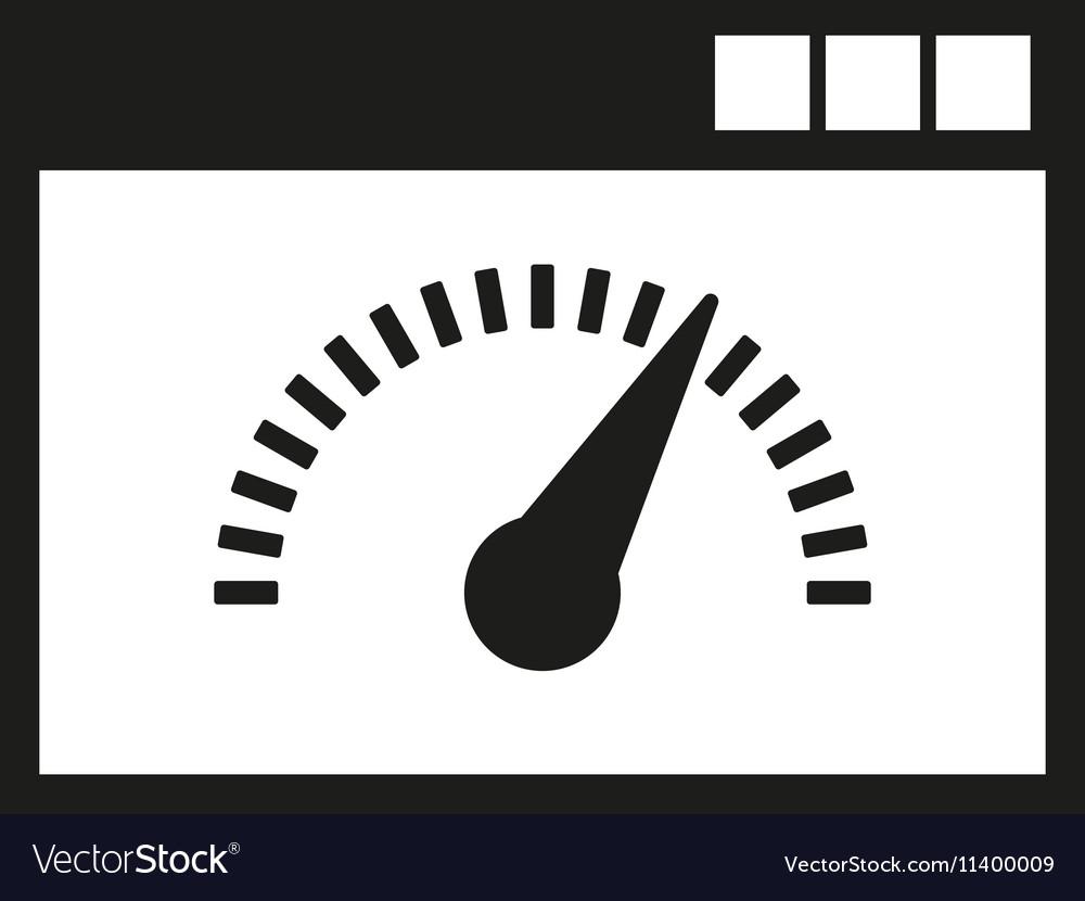 Speed internet test icon design symbol