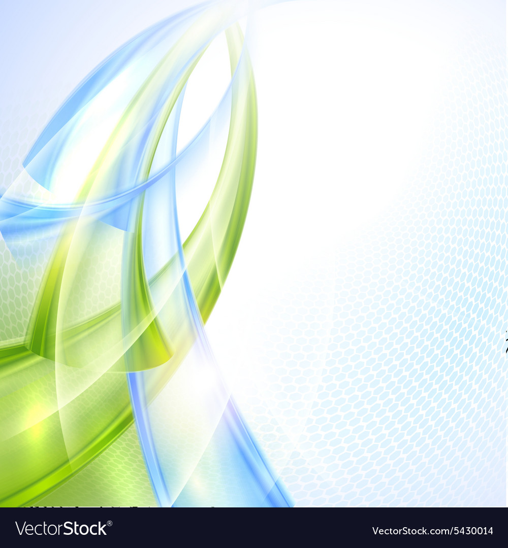 Abstract Green And Blue Wave Background