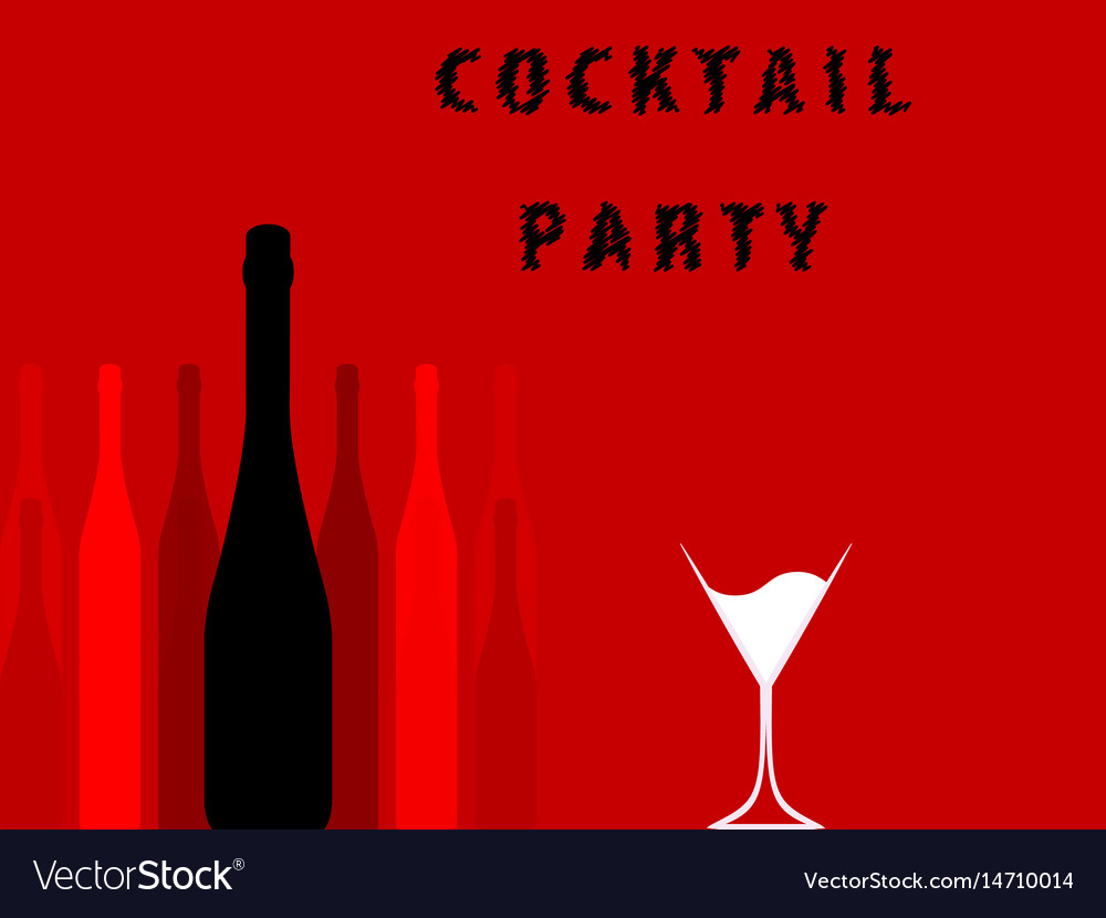 Alcoholic bar menu red