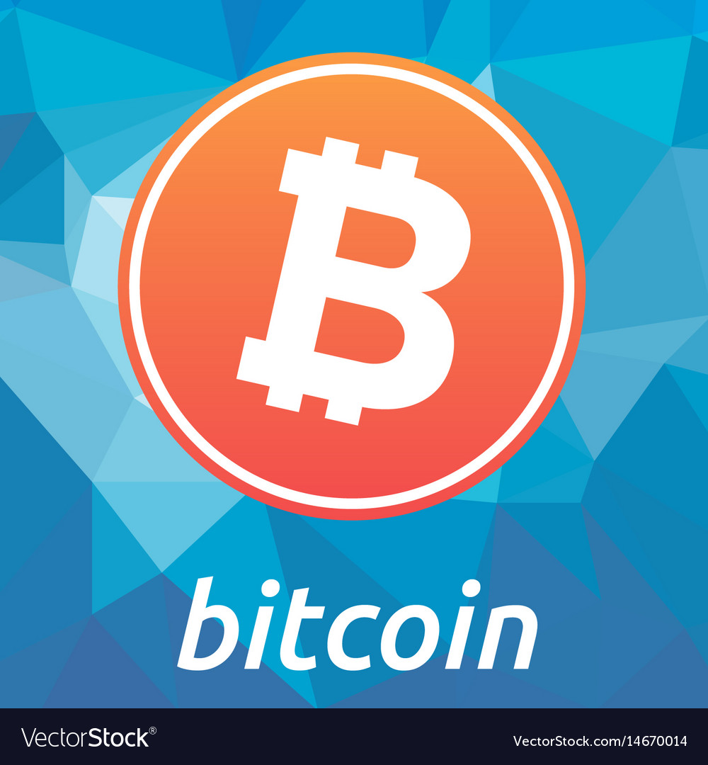 Bitcoin blockchain criptocurrency orange logo
