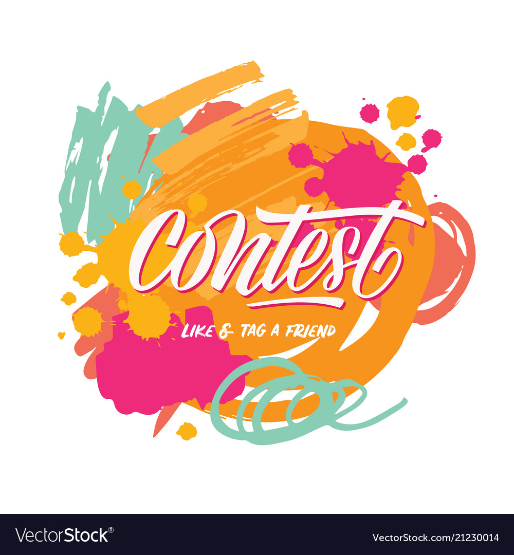 Contest card and abstract brush background