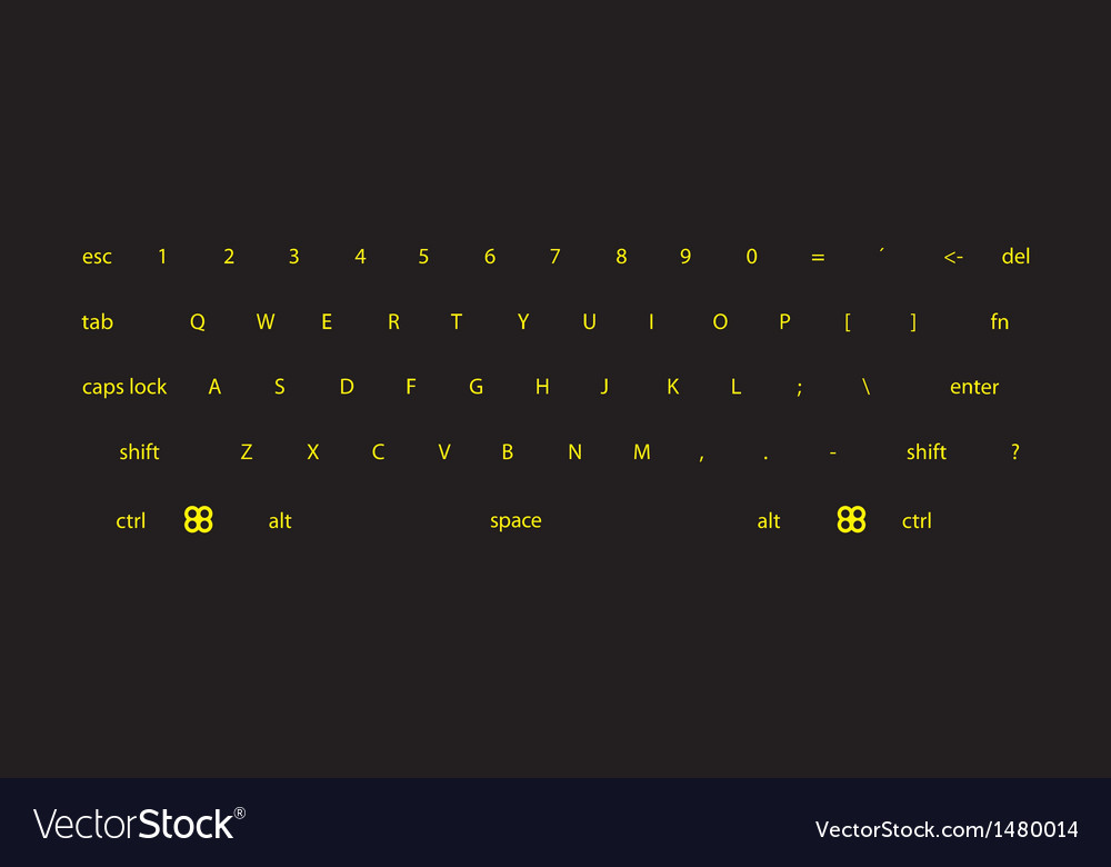 Dark keyboard vector image