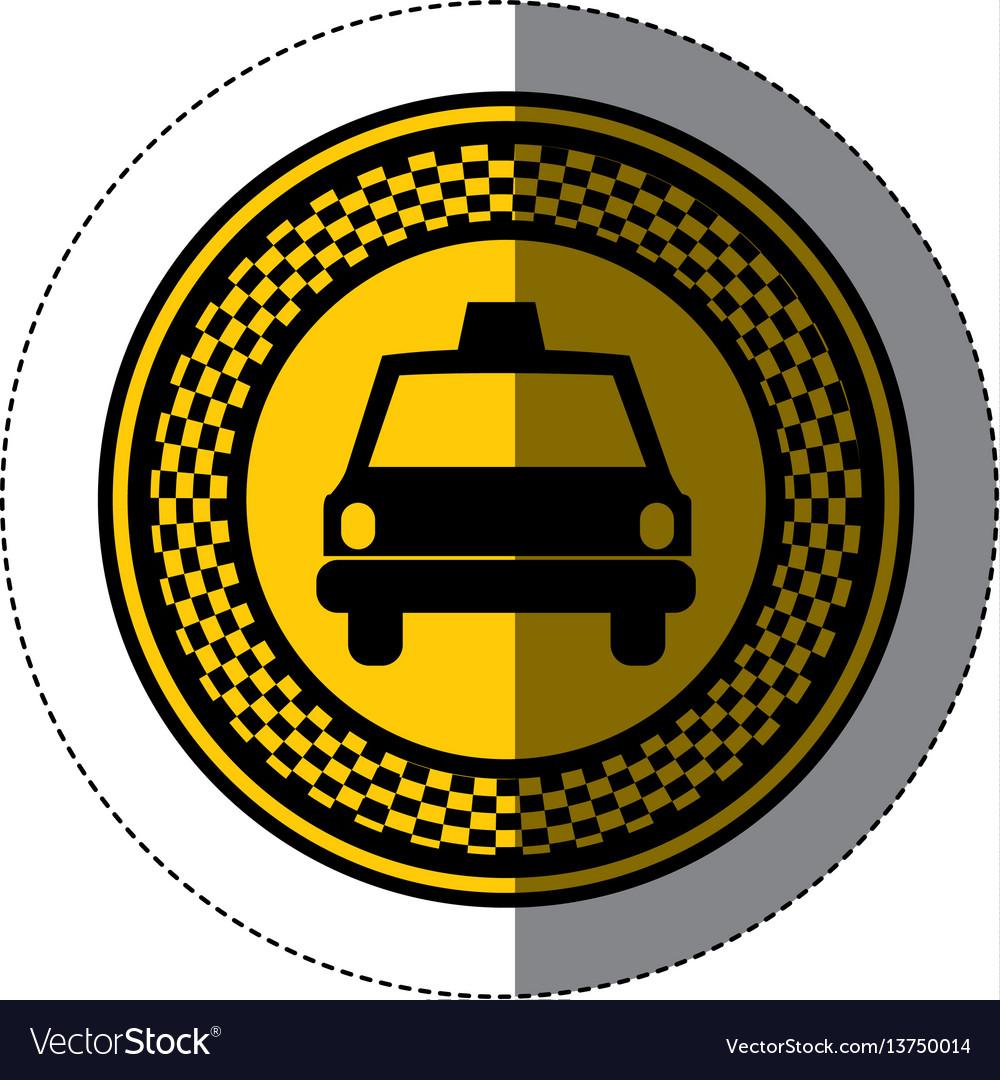 Emblem taxi front car icon