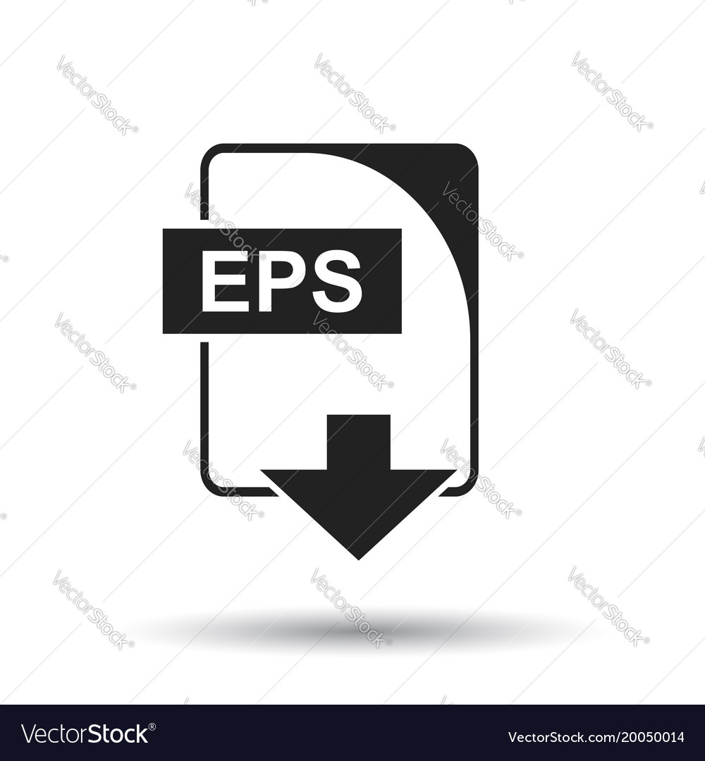 Eps icon flat eps download sign symbol with