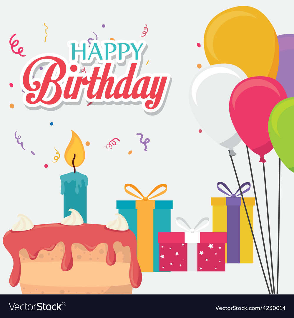 Happy Birthday Card Design Royalty Free Vector Image