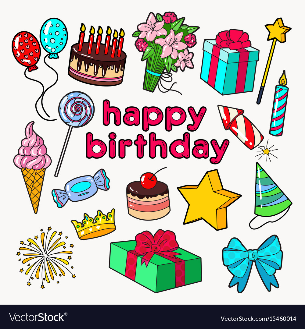 Happy birthday party decoration set