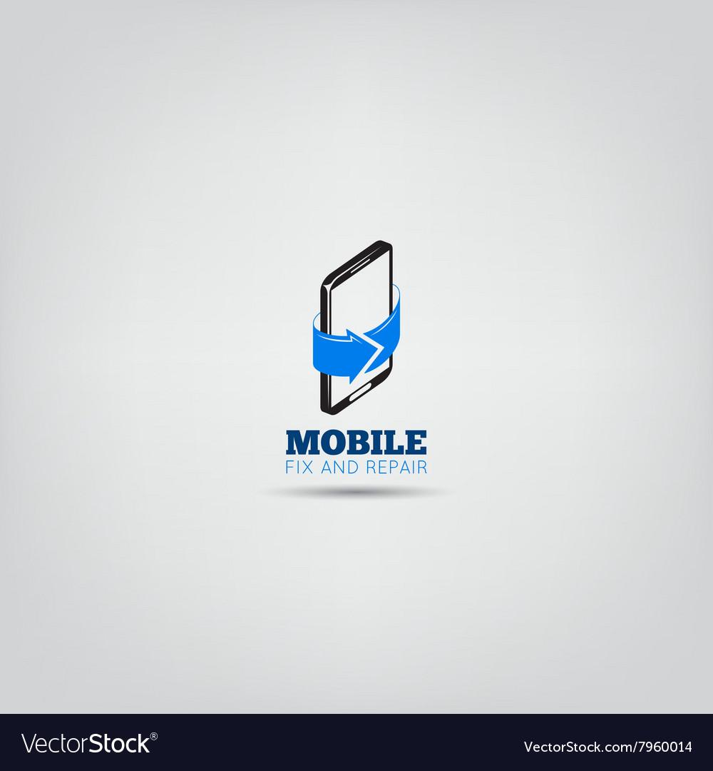 Mobile repair service logo
