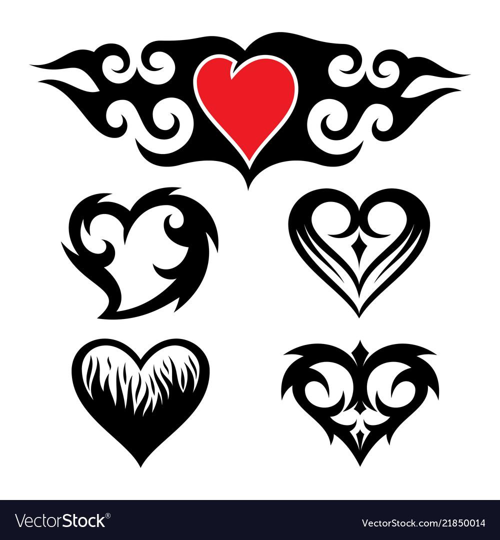 Set abstract love tribal