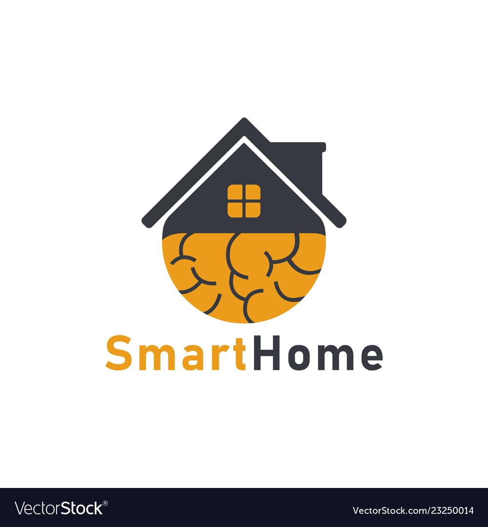 Smart Home Icon Logo Design Template