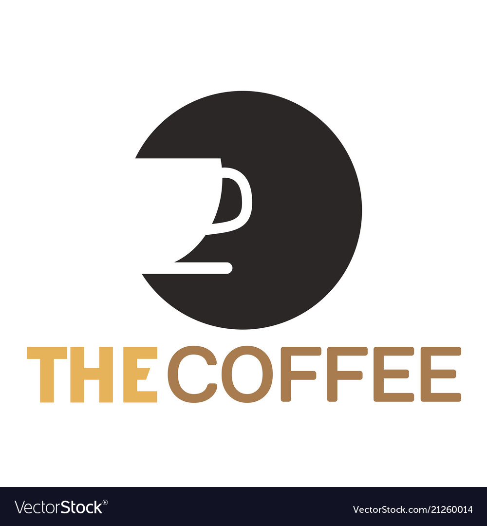 The coffee cup of coffee circle background