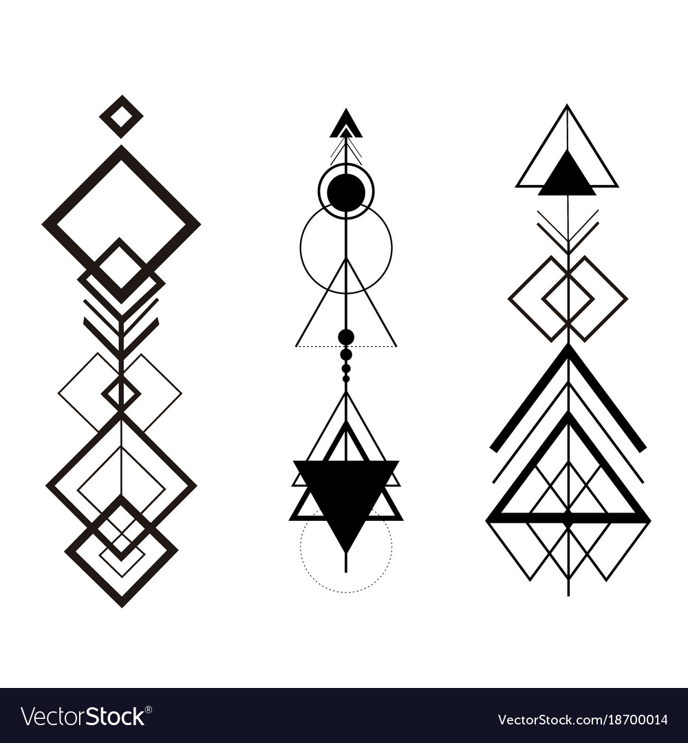 Maggard Fal3600712m Adjustable Instantaneous Trip Circuit Breaker Line Of Tribal Arrows Wiring Diagrams Hipster Geometric Set Royalty Free Vector Rh Vectorstock Com Arrow Circle Single