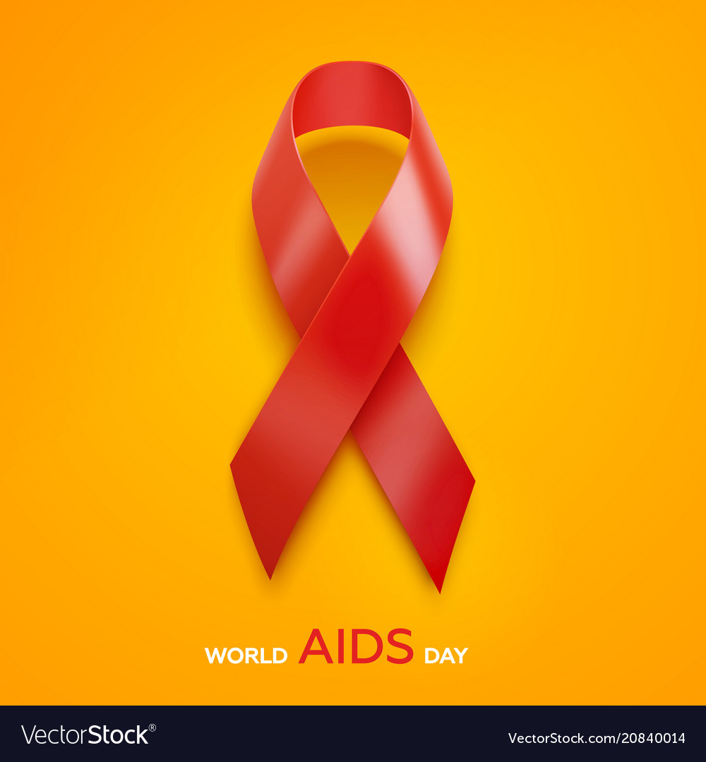 World aids day concept aids awareness red ribbon