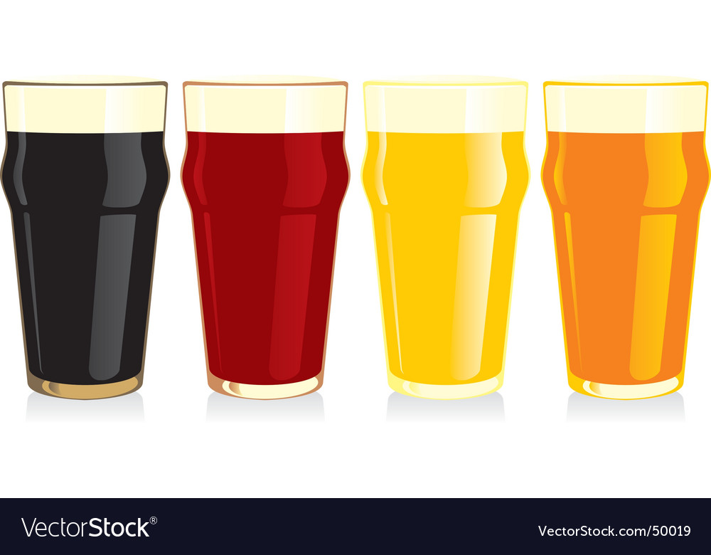 Beer glasses set vector image