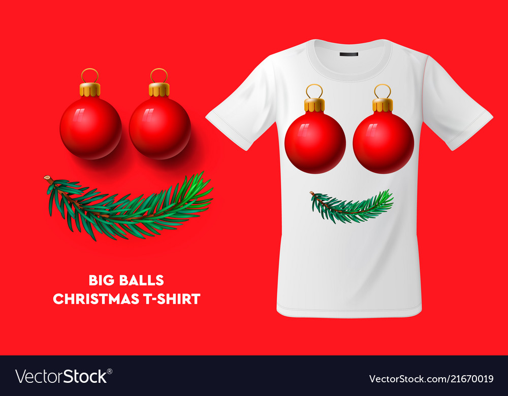 Big balls christmas t-shirt design modern print