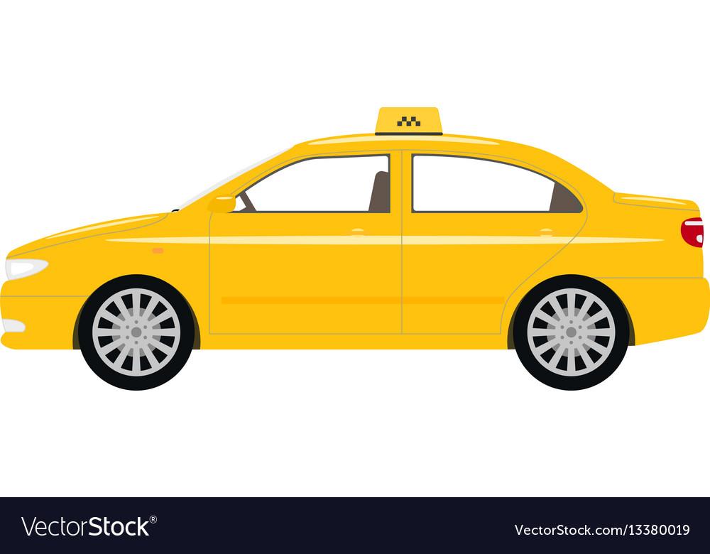 Cartoon car yellow taxi