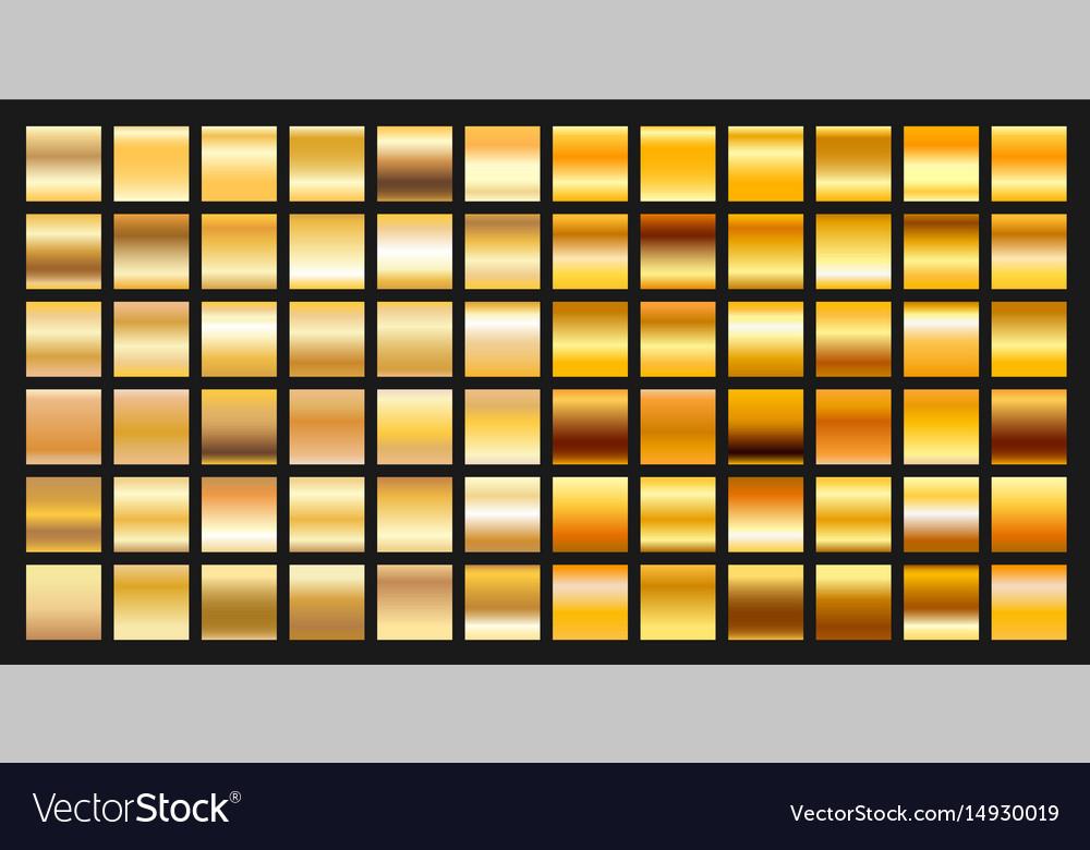Digital design golden gradient icons