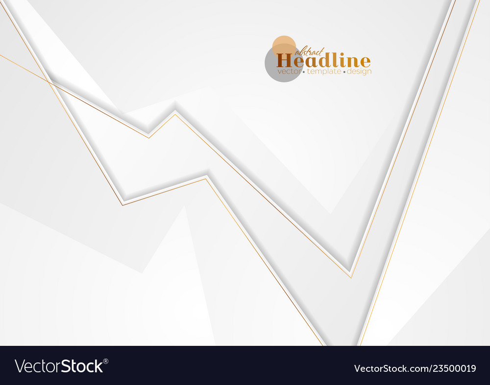 Grey abstract corporate background with bronze