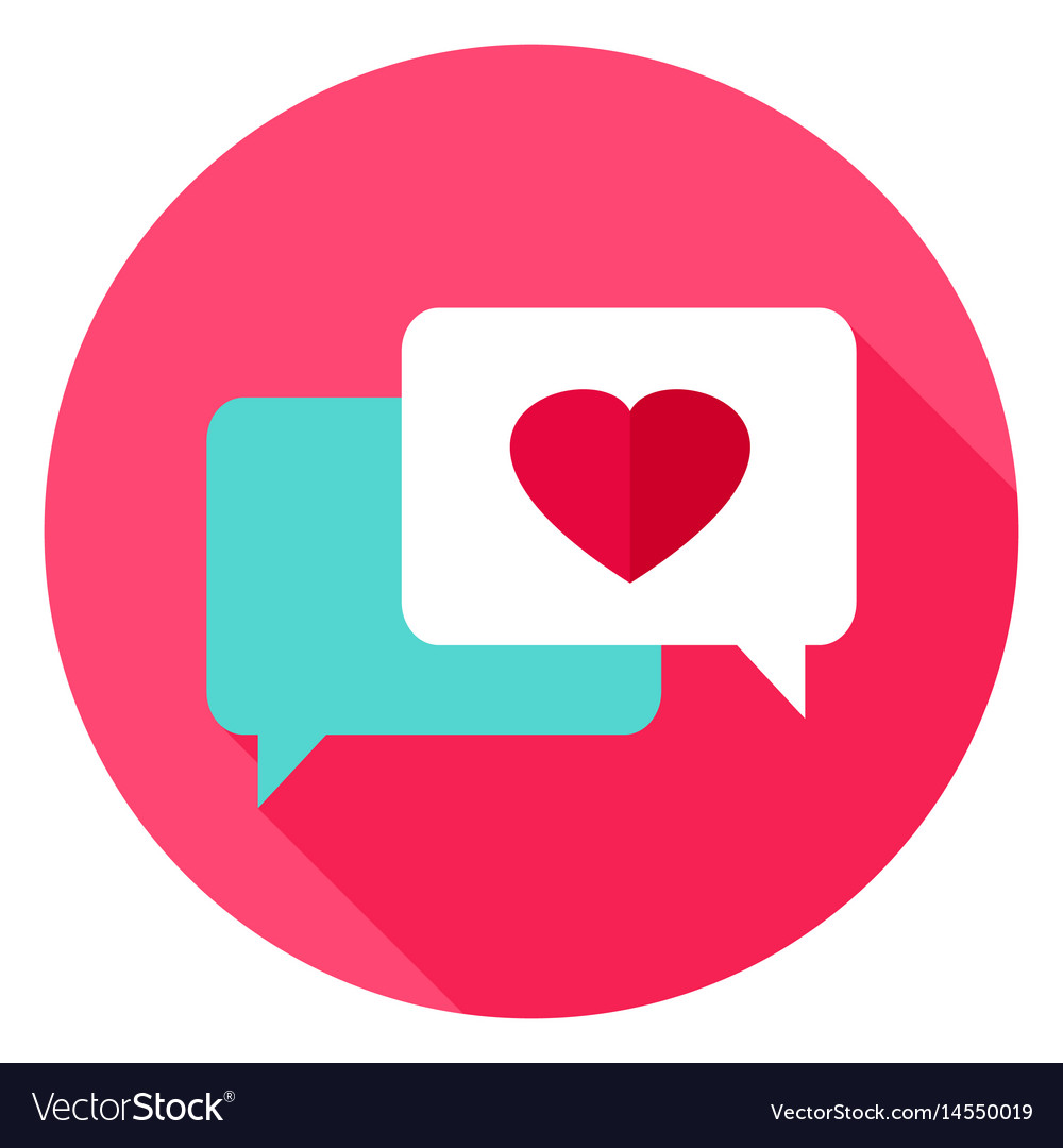 Love Messages Circle Icon Royalty Free Vector Image