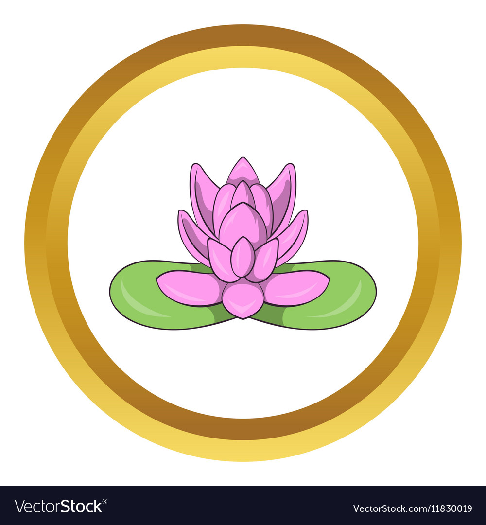 Pink lotus flower icon