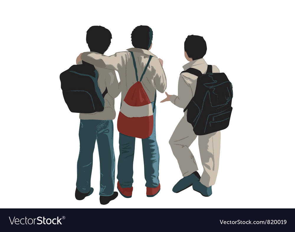 Three friends vector image