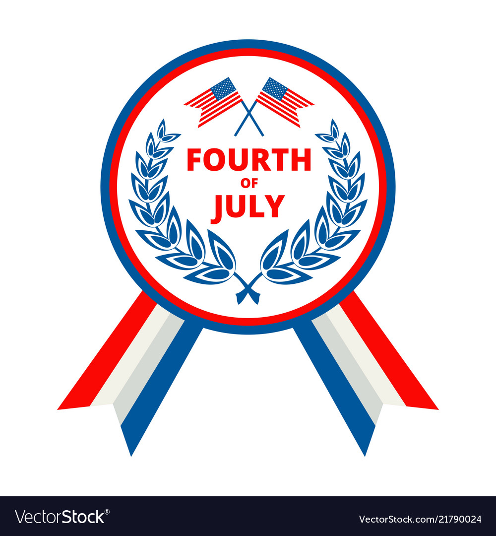 Badge for independence day of usa july fourth