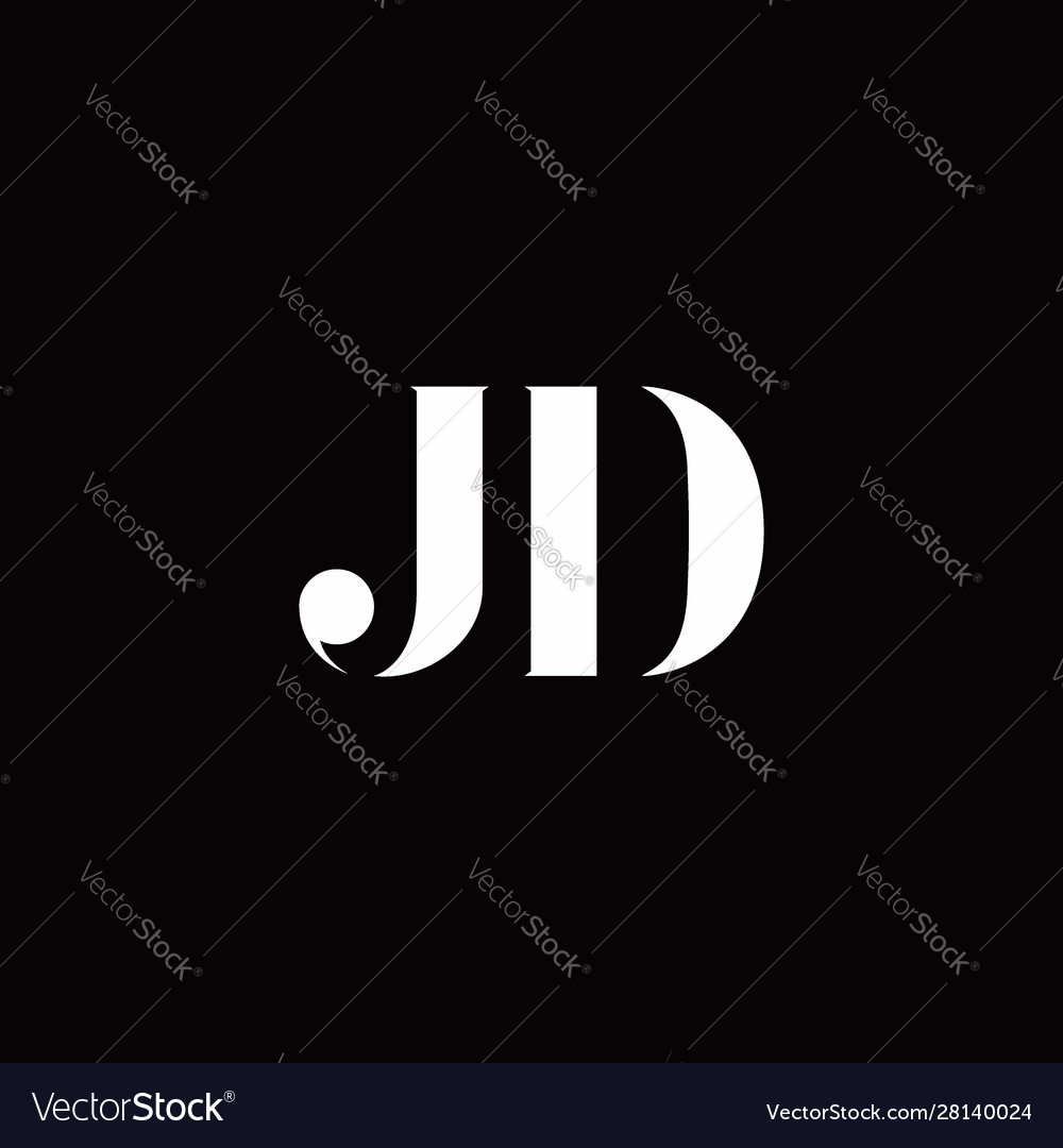 jd logo letter initial logo designs template vector image vectorstock