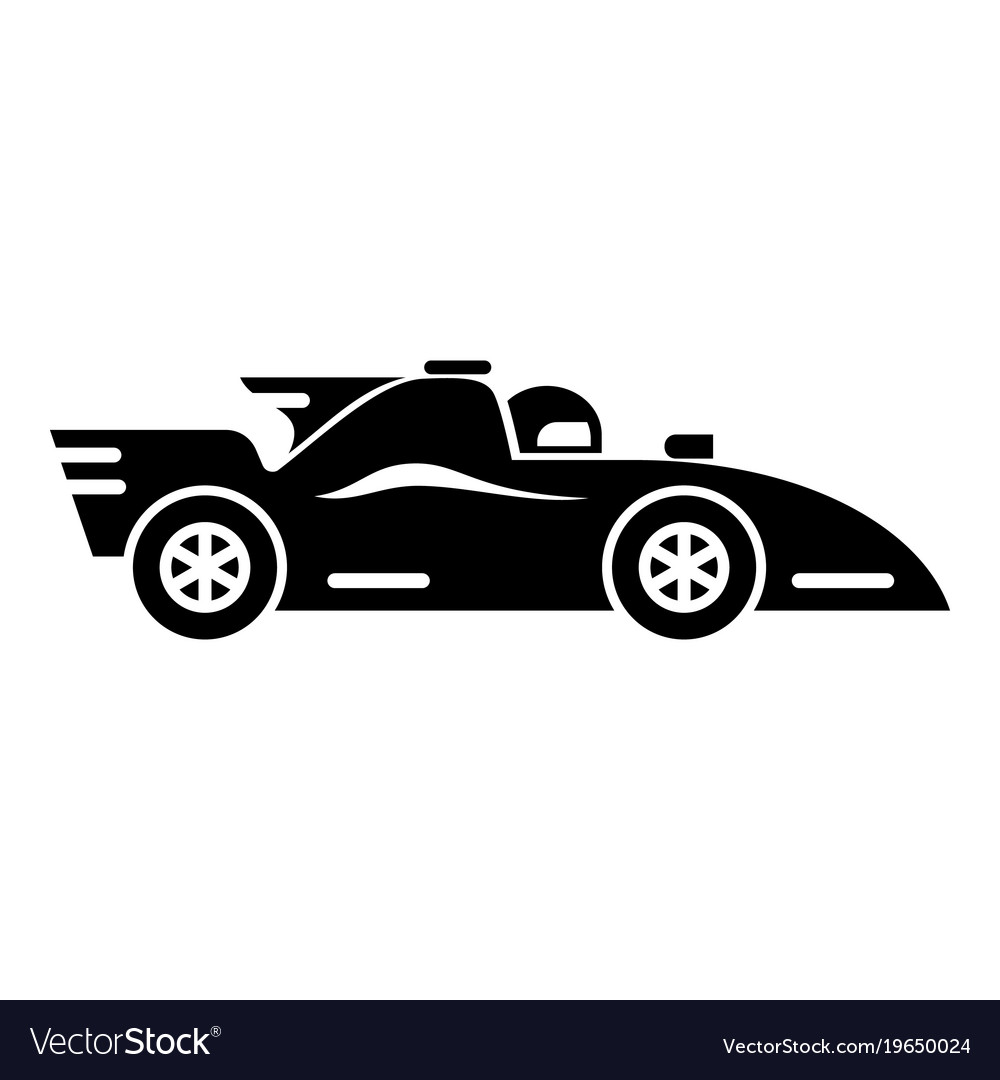 racing car icon simple black style royalty free vector image