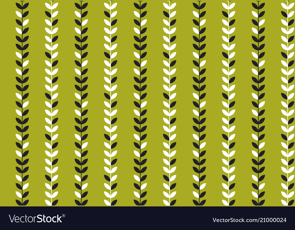 Simple flat tropical pattern in green color