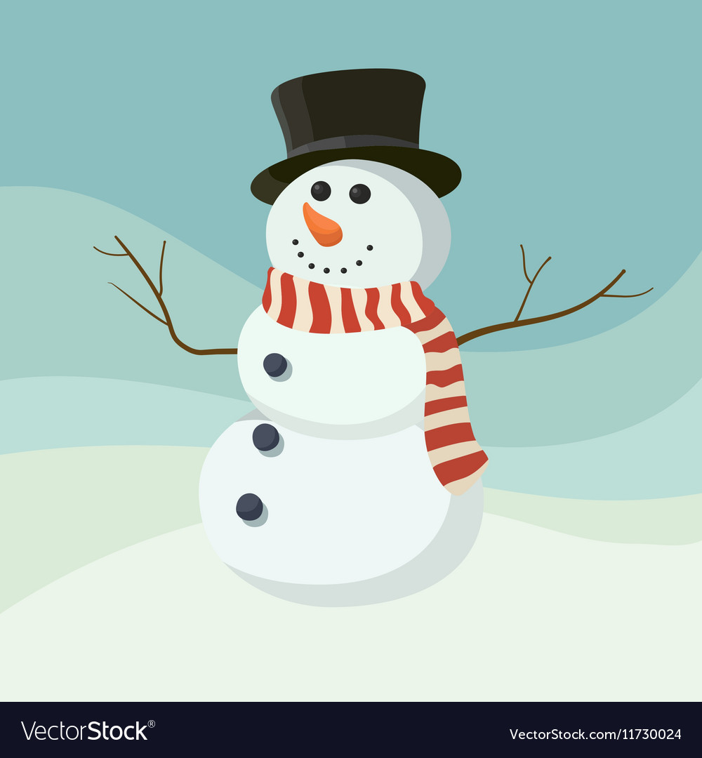 Snowman icon flat helper Snowman icon face