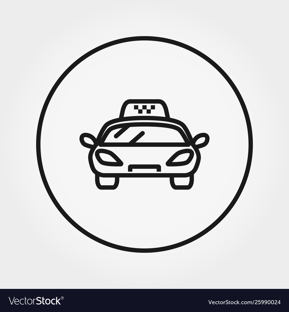 Taxi universal icon editable thin line