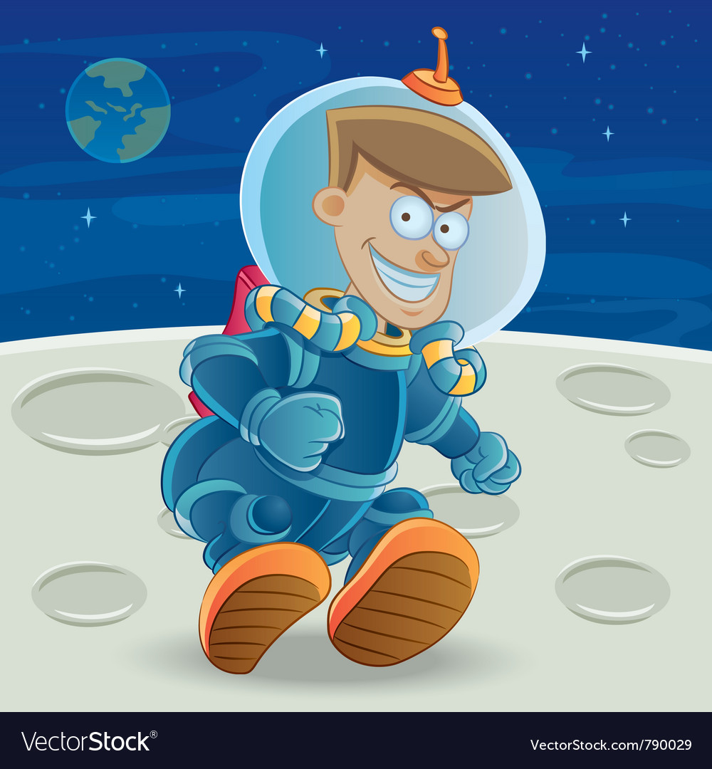 Astronaut at the moon