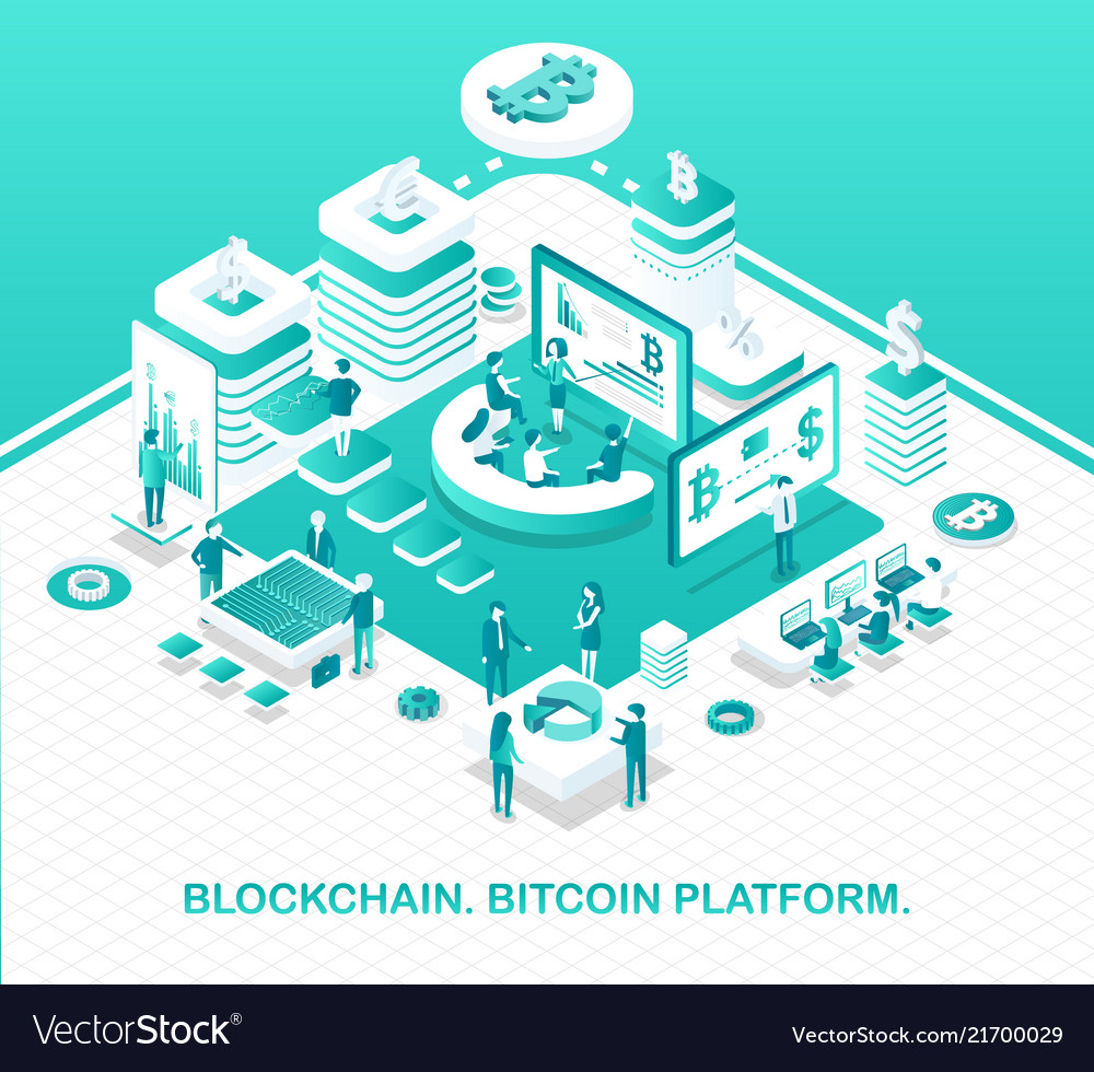 Blockchain and bitcoin platform operation model