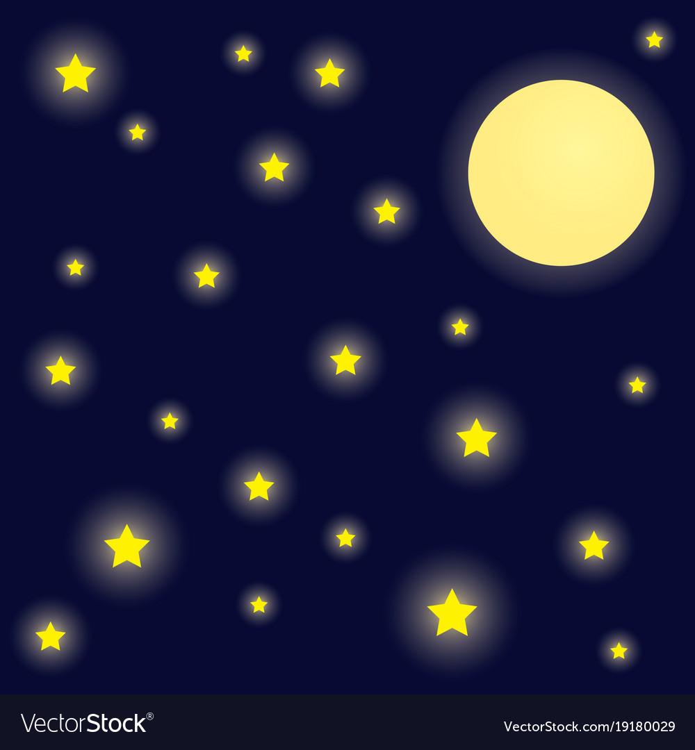 Bright night sky background