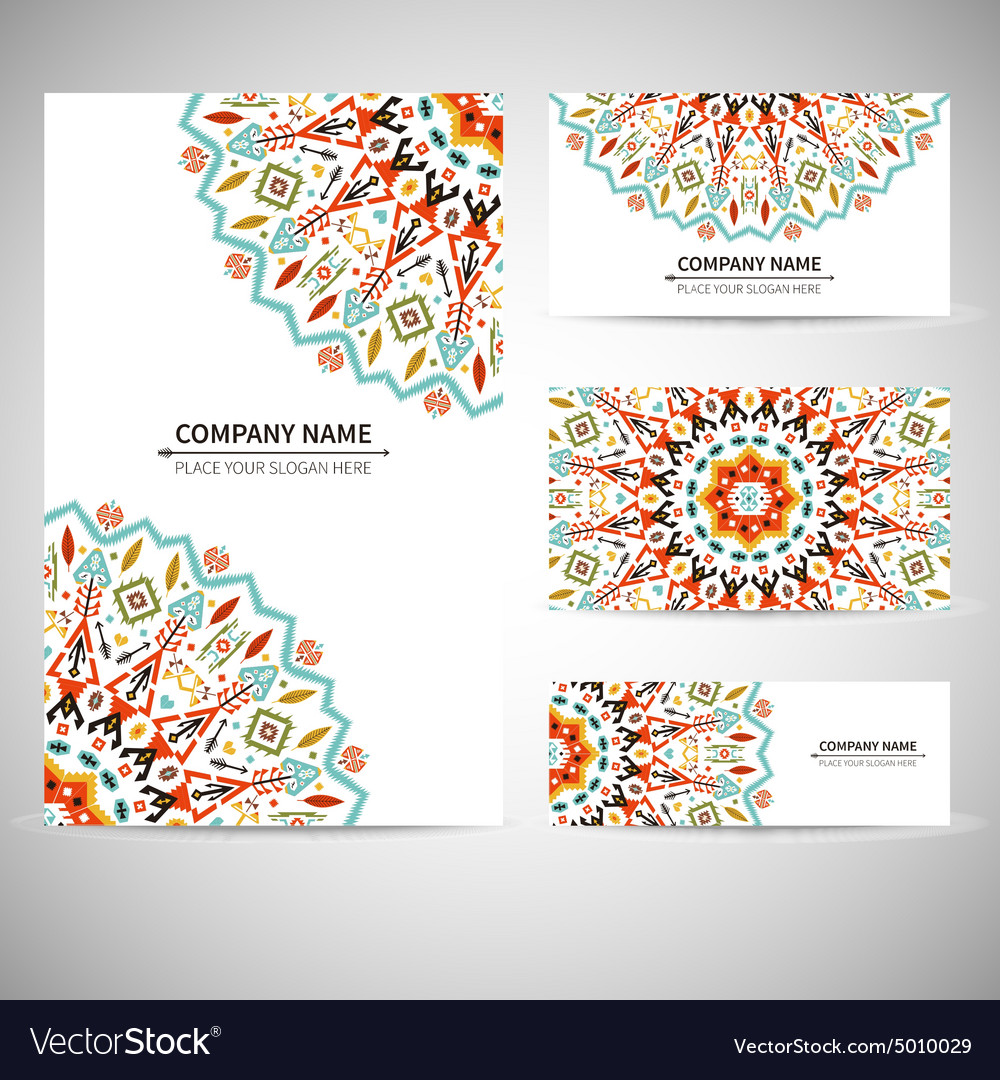 Business card template in