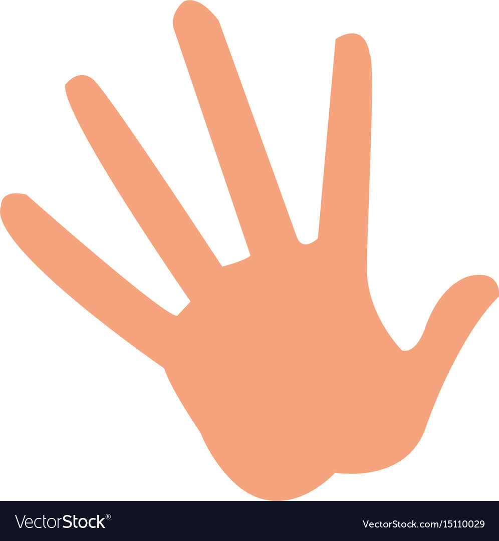 Cartoon hand showing the five fingers