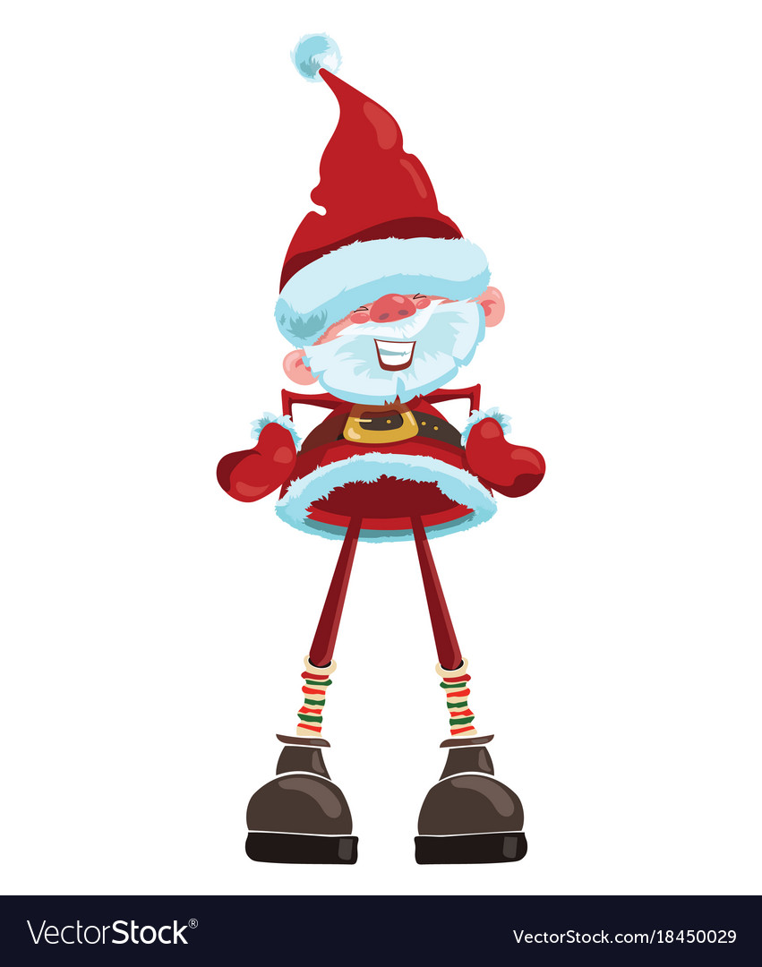 Cartoon santa claus christmas with a