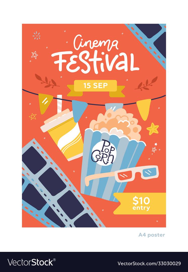 Cinema movie festival placard banner card