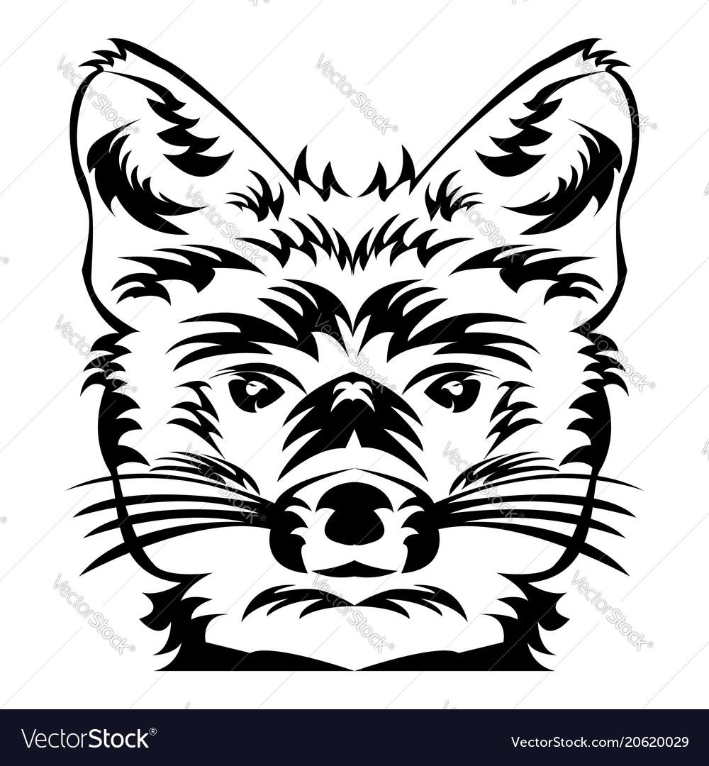 Fox head tattoo art