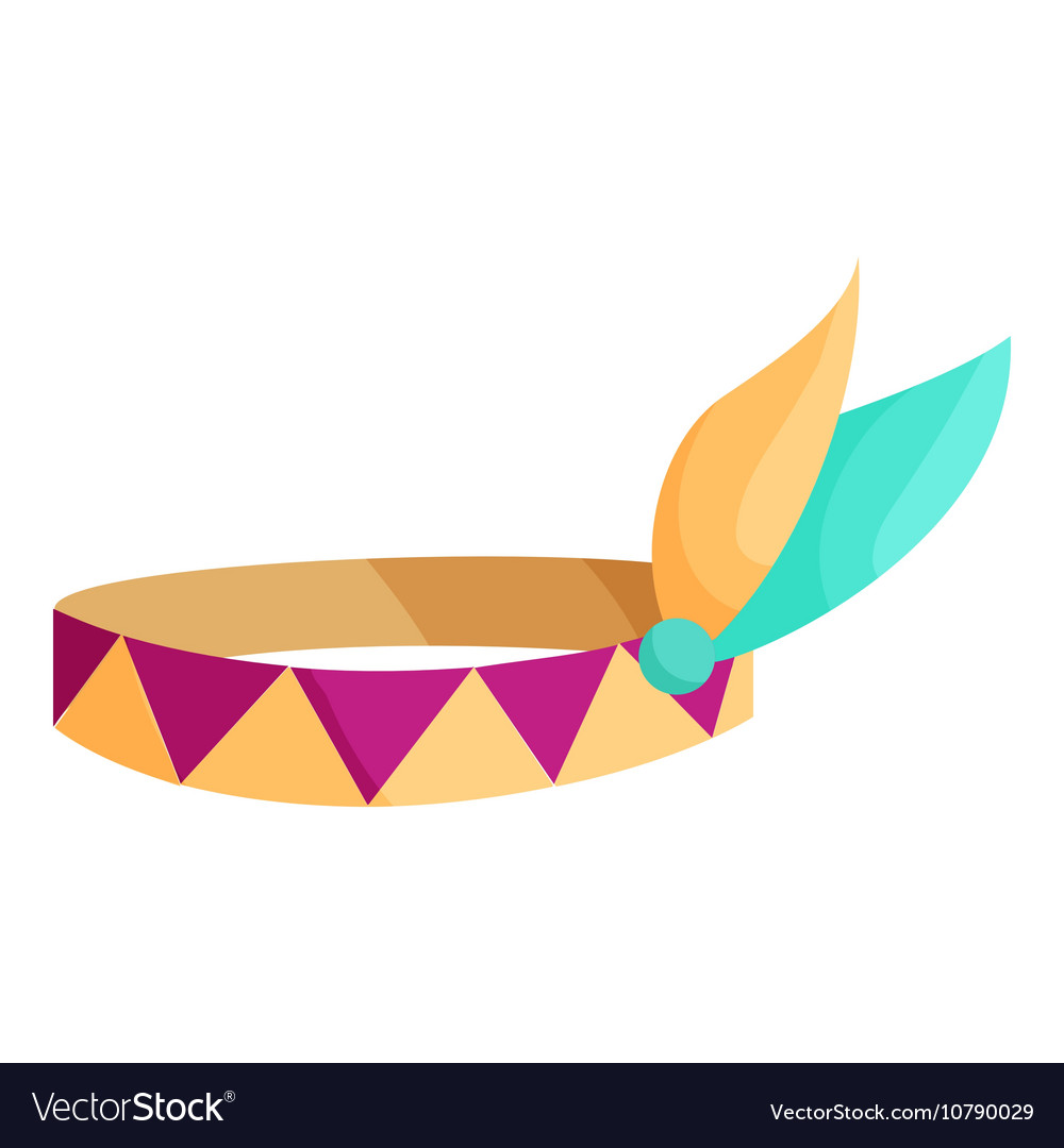 Indian headband icon cartoon style vector image